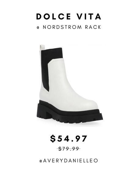 White boots, combat boots, Dolce Vita  #LTKunder100 #LTKshoecrush