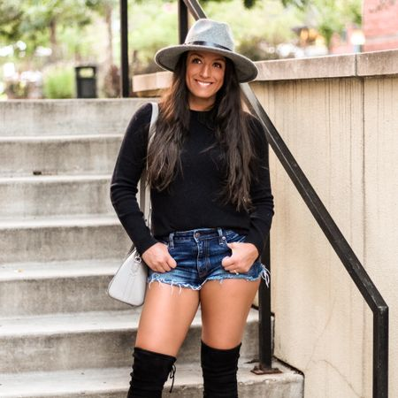 It's Friday!!🎉 The last couple days have been nothing but meetings, so I'm excited for a little break.😆 My cashmere sweater is under $100, shorts are 25% off and found a dupe for my hat on Prime for under $40!🙌🏽 Hope y'all have a wonderful weekend!🖤  You can instantly shop my looks by following me on the LIKEtoKNOW.it shopping app  http://liketk.it/312Wk @liketoknow.it #liketkit #LTKsalealert #LTKunder100 #LTKstyletip