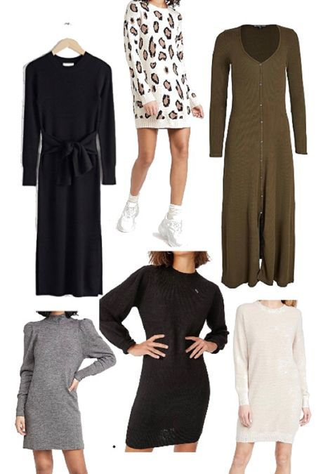 Cute, soft, affordable sweater dresses for fall are here! These are my picks for dresses that you call layer all winter long over leggings or with over the knee boots. #sweaterweather  http://liketk.it/2ZGv9 #liketkit @liketoknow.it