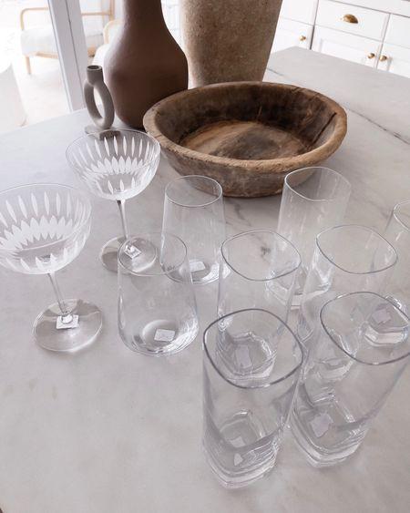 Drinking glasses, wine glasses, cocktail glasses, StylinAylinHome   #LTKhome #LTKunder100 #LTKstyletip