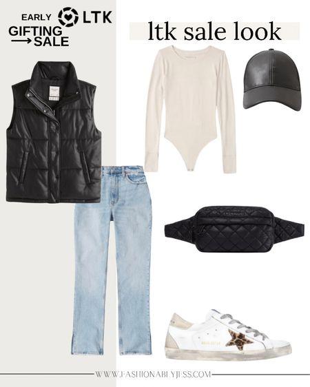 Fall style, fall outfit, body suits, vest, belt bag,   #LTKunder50 #LTKunder100 #LTKSale