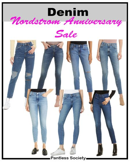 NSale. Nordstrom Anniversary Sale. Denim. Denim style. Denim jeans. Jeans. Mom jeans. Sale denim. Skinny jeans. Travel outfit. Mom outfit. Dinner outfit. Date night outfit.   #LTKworkwear #LTKsalealert #LTKstyletip