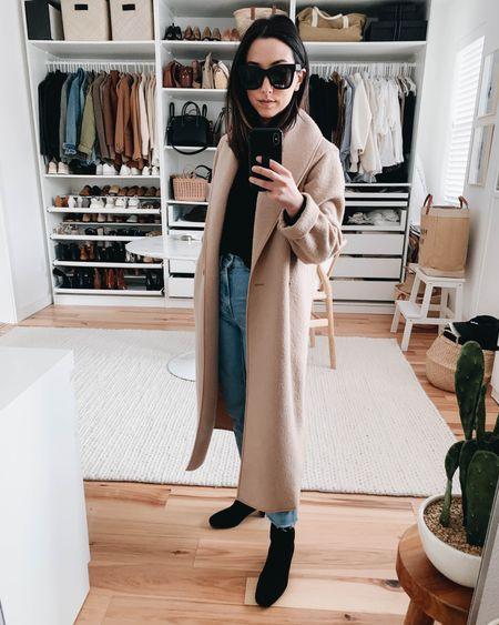 Staple shoes to have in your closet - Aquatalia Britney boots. Waterproof.   Coat - Aritzia xxs (can't be linked) Sweater - J.crew xs (runs big) Jeans - Everlane 24 ankle Boots - Aquatalia 5 Sunglasses - Quay  http://liketk.it/36MAx @liketoknow.it #liketkit #LTKshoecrush