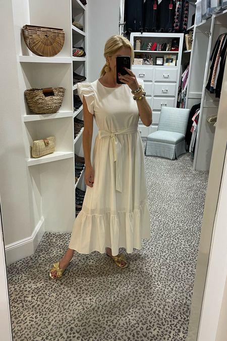 Love this white dress for summer! Wearing a size S.     #LTKstyletip #LTKshoecrush