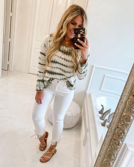 Walmart fashion white denim white jeans tie dye sweater   #LTKsalealert #LTKstyletip #LTKunder50