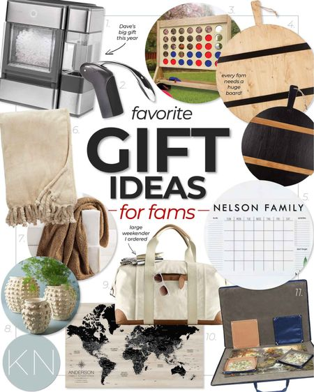 Favorite family gift ideas — shop now to ensure timely arrival for the holidays! Family game family planner cheeseboard icemaker puzzle board travel bag best vacuum puzzle board cozy throw  #LTKSeasonal #LTKHoliday #LTKGiftGuide