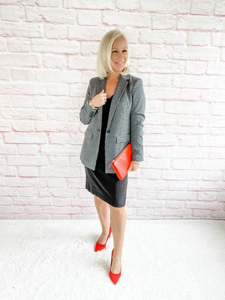 Street Look / Blazer Look / Work Blazer / Workwear / Work Wear / Office Look / Office Outfit / Business Casual / Office Casual / Work Outfit / Tory Burch / Kate Spade /  Coach Handbags / Handbag /petite / over 40 / over 50 / over 60 / Fall Outfit / Fall Fashion     #LTKSeasonal #LTKworkwear #LTKitbag