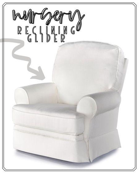 Nursery Glider | White Rocker for Nursery | White Recliner | Nursery Ideas @liketoknow.it #liketkit http://liketk.it/3dBRM #LTKbump #LTKbaby