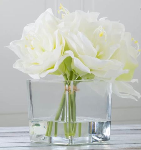 I found the perfect arrangement to set on my nightstand as I continue to revamp the master bedroom for spring!! I love white lilies and these look to be perfect I can't wait to share everything over on Snapchat with you!!  I love piecing together bright and cheery things that bring joy and happiness in the spring.    #LTKSpringSale #LTKSeasonal #LTKhome
