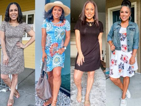 Summer dresses from Amazon. All under $25. Wearing a sz small in all.  All have pockets except for the black one which is a night shirt. http://liketk.it/3jg6v #liketkit @liketoknow.it #amazonfinds #amazondresses