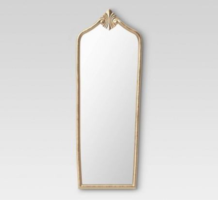Floor Gilded Decorative Wall Mirror Gold  Gilded decorative mirror adds a glamorous look to any space  Uniquely shaped frame, gilded finish and golden rim for a charming look  Vintage style mirrors   #LTKhome #LTKstyletip