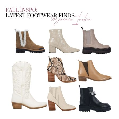 Take a look at some of my latest boot finds for the fall! | #fallfootwear #boots #ankleboots #marcfisher #bestsellers #stevemadden #falloutfit #shoeinspo #kneehighboots #workwear #workoutfit #JaimieTucker  #LTKshoecrush #LTKstyletip
