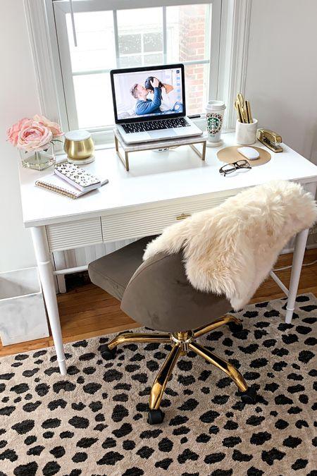 My office setup! 💕 #liketkit #LTKhome #LTKunder50 #LTKunder100 #StayHomeWithLTK #queencarlenehome #carleneathome #homedecor #officedecor #workfromhome http://liketk.it/2S85P @liketoknow.it
