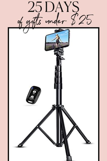 This tripod with a remote clicker that connects to your phone is under $25 on Amazon & is a great gift idea! #giftsunder25 #giftsforher #giftsforteens #giftguide #tripod #amazonfinds   #LTKGiftGuide #LTKHoliday #LTKunder50