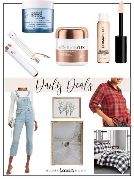 Daily Deals!!!!  Home decor, ootd, flannels, overalls, skincare, hair, vintage artwork, bedding, Christmas   #LTKbeauty #LTKhome #LTKsalealert