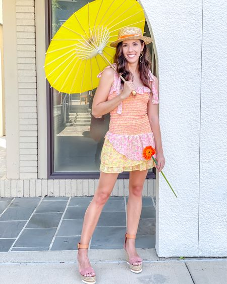 Summer smocked frocks! Fitted dresses & espadrille wedges & straw hats http://liketk.it/3cL8D #liketkit #LTKstyletip #LTKunder100 #LTKunder50 @liketoknow.it