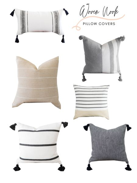 Woven Nook is one of my favorite shops for decorative throw pillow covers. They have a wide selection of beautiful neutral patterned throw pillow covers that will brighten up any piece of furniture! They are having 15% for Memorial Day with code MEMORIAL15 . Shop any of these beauties: http://liketk.it/3gsEz #liketkit @liketoknow.it @liketoknow.it.home @liketoknow.it.family #LTKunder50 #LTKstyletip #LTKhome