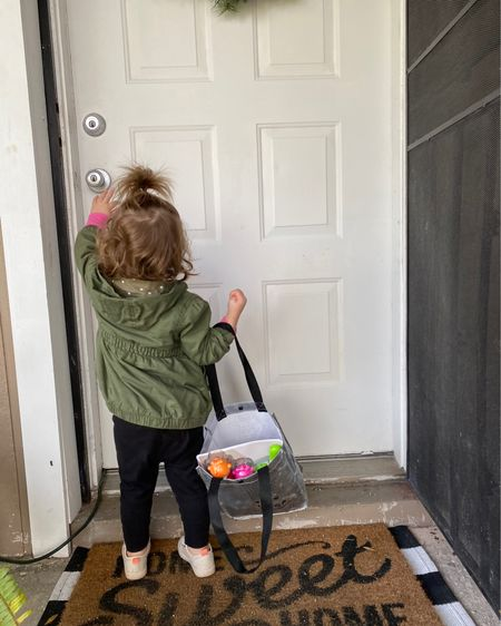Toddler fashion and front porch! http://liketk.it/34b0H #liketkit @liketoknow.it #LTKkids #LTKhome #doormat #toddler #jacket #greenjacket