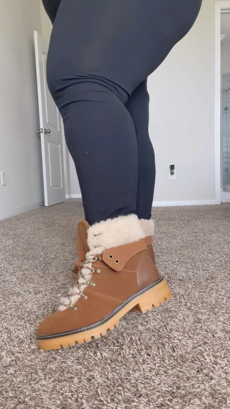 Wide width fall boots, lug boots, combat boots, all from Walmart @walmartfashion @shop.ltk #liketkit {AD} #walmartfashion    Follow my shop @fromheadtocurve on the @shop.LTK app to shop this post and get my exclusive app-only content!  #liketkit #LTKshoecrush @shop.ltk