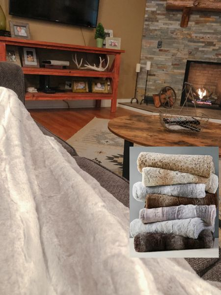 Cozied up this morning with my coffee and a fire. Found this faux fur throw blanket yesterday on major sale and I'm loving it! It's a great size for lounging on the coach, so incredibly soft and comes in great colors and patterns. This is a great gift idea for teachers, gift exchange with the girls, classroom helpers or volunteers, neighbors, you name it! I linked a few Target options too including a chenille one!   http://liketk.it/31OBE #liketkit @liketoknow.it   Follow me on the LIKEtoKNOW.it shopping app to get the product details for this look and others