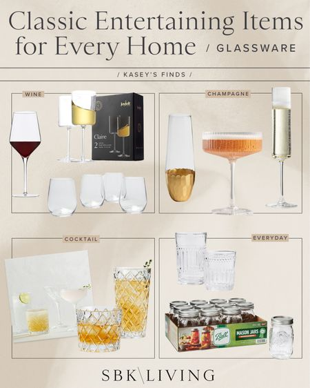F I N D S \ Classics glassware for every home🥂🍷🥃 Cheers!   #entertaining #home #bar #holiday #holidayentertaining   #LTKunder100 #LTKhome #LTKHoliday