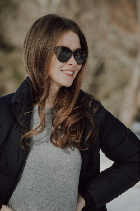 Puffer jackets and cashmere sweaters are the perfect winter outfit to keep you warm during this cold snap.  Also - this sweater is under $50 and comes in SO many colours.  #LTKunder100 #LTKSeasonal #LTKstyletip