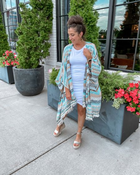 No Monday Blues here….just colorful kimonos and perfect platforms!  If you are looking for a gorgeous accessory to transition from summer to fall, the Lettie Kimono from @liamandcompany is only $30 with my discount STEPHSSTYLE. Link in BIO  It's a stunning topper for your favorite casual dress / cutoffs & tee now, then with jeans or sweater dress later.  And don't miss out on these @marcfisher espadrilles…marked down to $39 from $89.   You can shop the rest of my looks one of these easy ways!  1️⃣ Click the link in my Profile 2️⃣ DM me for any links 💕 3️⃣ Screenshot a look for the @liketoknow.it app 4️⃣ Follow me @stephstyle101 on the FREE @liketoknow.it app to get all the shopping details of this outfit and all my other outfits. http://liketk.it/3kxt2 #liketkit    #businessmama #supportsmall #mymamaalife #girlboss #instafashion #smallbusiness #shopsmallbusiness #supportsmallbusiness #smallbusinessowner #mamafashion #mamafashionista #instamama #imwearingliamandco #liamandcompany #liamandco #liamcolove #cincinnatiinfluencer #instagood #summeroutfit #beachvibes #wedgesandals #kimono #summerdress #easystyle #boldcolors #motheringmunday #LTKshoecrush #LTKsalealert #LTKstyletip