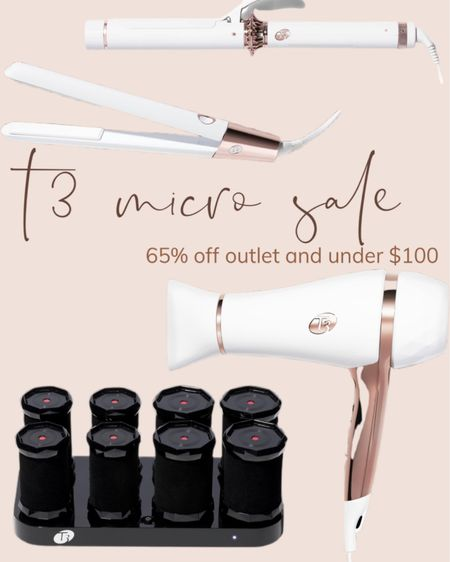 T3 Micro outlet sale! Finds under $100 and up to 65% off!  Best straightener, curling iron and blow dryer ever!   #LTKbeauty #LTKunder100 #LTKsalealert