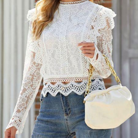 #fall #fall2021 #trends #trending #tops #fashion #lace #casual #feminine      #LTKunder100 #LTKunder50 #LTKGiftGuide