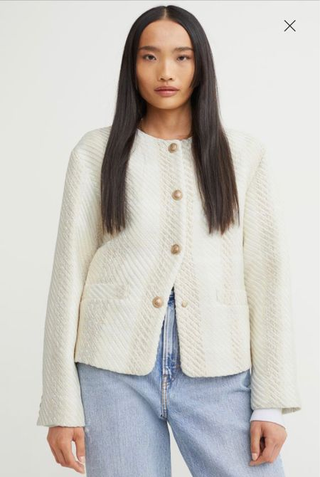 Such a classic boucle jacket and it's 15% off!