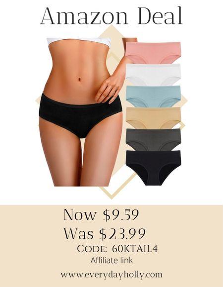 Amazon deal!  Amazing reviews  Womens Underwear Cotton Underwear For Women Regular & Plus Size 6-Pack   #LTKunder50 #LTKsalealert #LTKstyletip