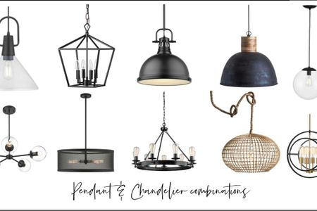 Looking forward the perfect pendant and chandelier combination? I've selected some of my favorite adorable light fixtures for you here!  #LTKstyletip #LTKhome
