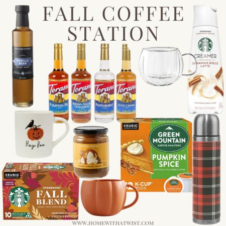 Everything you need to make your favorite fall coffee drink at home    #LTKSeasonal #LTKHoliday #LTKhome