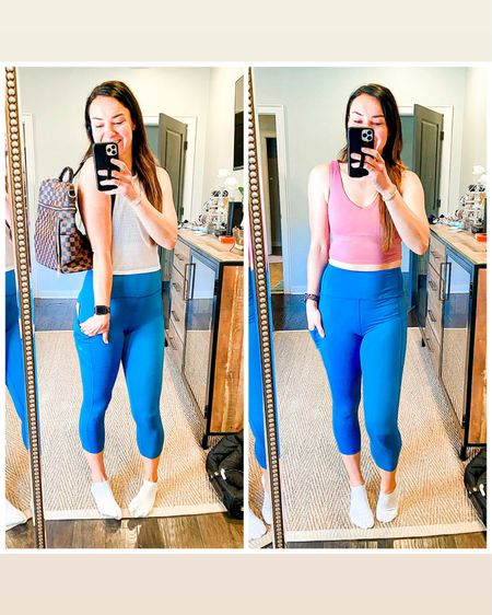 Spring outfit fitness edition: love these pieces from Albion fit! And these leggings have pockets, I mean.... 😍😍 Refresh your athletic wear with some spring colors! 🌸 All fit TTS, wearing size small   http://liketk.it/3c11q #liketkit @liketoknow.it #LTKunder50 #LTKsalealert #LTKfit