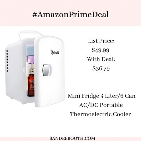 Mini fridge for your bedroom?! On sale!   #LTKunder50 #LTKbaby #LTKhome