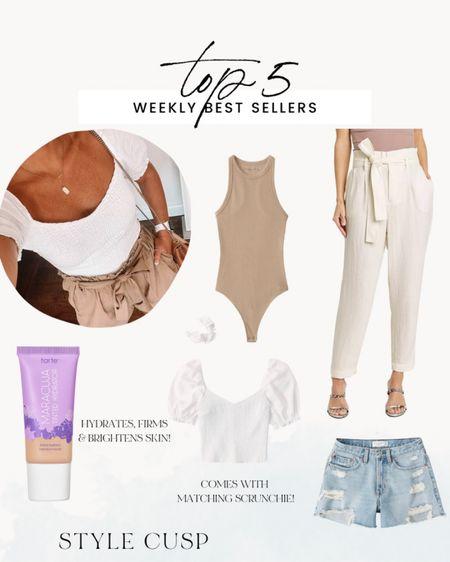 Top 5 this week! Bodysuit, Abercrombie shorts, summer tops, high waisted pants, Tarte makeup @liketoknow.it #liketkit http://liketk.it/3hT5w