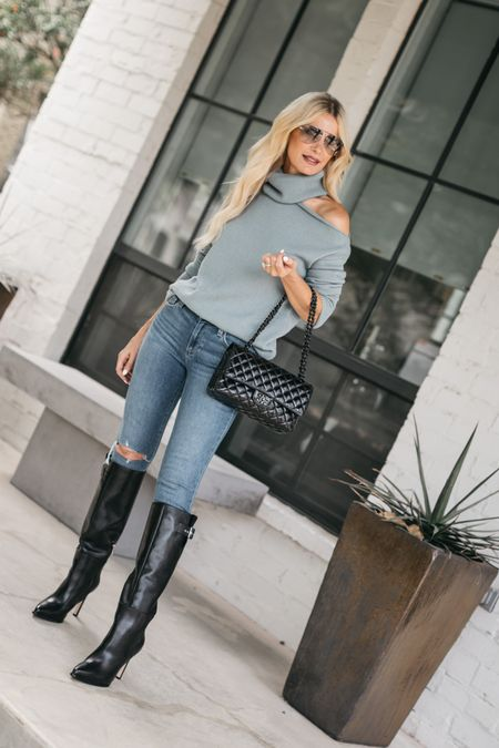 Fall V I B E S ➰ It may be 100+ degrees in Dallas but that doesn't mean we can't start planning our fall wardrobe and thanks to the NORDSTROM ANNIVERSARY SALE now is the perfect time!   My entire look is part of the #NSALE and by @paige. These jeans are incredibly slimming, my sweater is so cozy and soft, and these sleek knee-high boots are guaranteed to take you many places in style this fall and winter! #ad #liveinit #nordstrom @nordstrom  Shop my entire look part of the #NSALE by clicking the link in my bio. 🖤    #LTKshoecrush #LTKsalealert #LTKstyletip