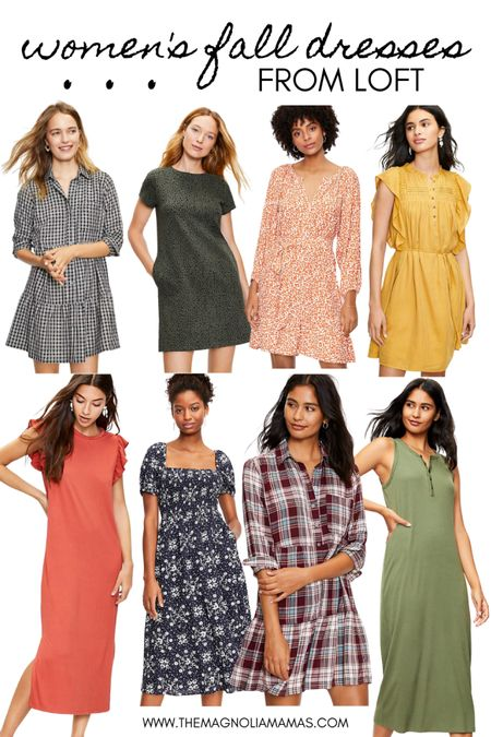 Fall dresses from Loft. Currently on sale!   #LTKSeasonal #LTKsalealert #LTKunder100