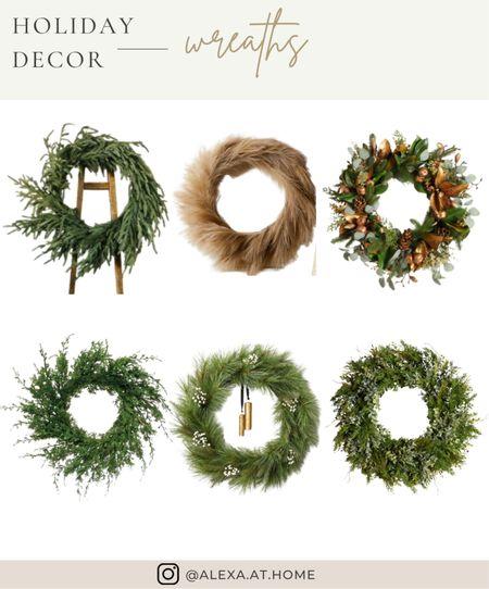 Holiday decor - wreaths   Holiday wreaths, Christmas wreaths, faux wreaths, faux pine wreath, wreaths, faux Christmas wreath  #LTKhome #LTKHoliday #LTKSeasonal