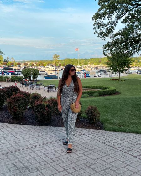 The comfiest jumpsuit ever, I will definitely be ordering in more colors! You can easily dress it up or down. Wearing a size Medium. My bag is available in-store only, linked some similiar styles. #liketkit @liketoknow.it http://liketk.it/3ivp3 #LTKunder50 #LTKsalealert #LTKstyletip #jumpsuit #oldnavy #summerstyle #comfy #goingout