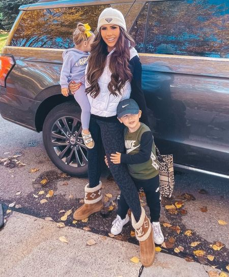 Fall Outfits, Hiking Outfits, Athleisure, Free People, Puffer Vest, Lulu Lemon Leggings, Louis Vuitton Boots, Prada Beanie, Casual Fall Outfits  #LTKstyletip