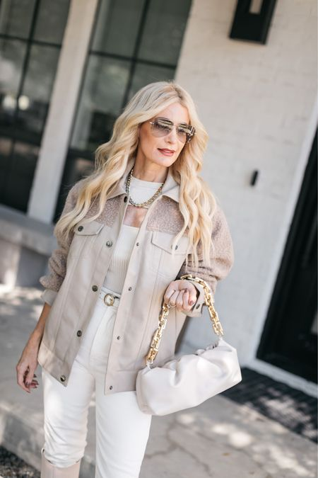 Obsessed with this neutral colored shirt jacket! The fit is amazing and it looks way more expensive than it really is! It runs tts, I'm wearing an  XS. #ad #nordstrom @nordstrom   #LTKSeasonal #LTKstyletip #LTKunder100