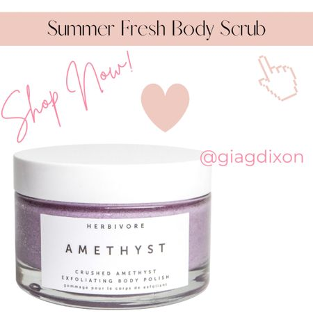 Summer fresh scrubs for your Body ody ody ody ody ody ody  If we could list the endless visualizations that come to mind when it comes to a fabulous summer body it would simply come down to being: 1.Hydrated 2.Silky smooth 3.Glowing - maybe even tan 4.Relaxed from summer vacation   #LTKunder50 #LTKSeasonal #LTKbeauty