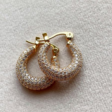 Luv AJ Pave Mini Martina Hoops! Sparkly little hoop earrings   spring fashion trends   spring and summer jewelry trends   jewelry trend alert   jewelry inspo   cute mini gold hoops   diamond gold hoops   non tarnish jewelry   high quality earrings http://liketk.it/3eeCK @liketoknow.it #liketkit #LTKstyletip #LTKunder100 #LTKbeauty