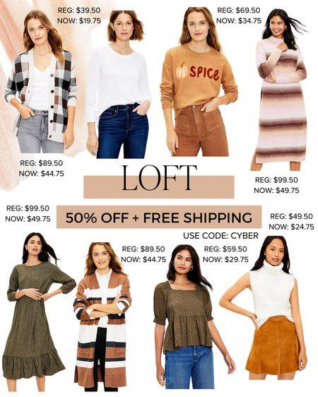 50% off + FREE shipping at LOFT!   #LTKSeasonal #LTKworkwear #LTKsalealert