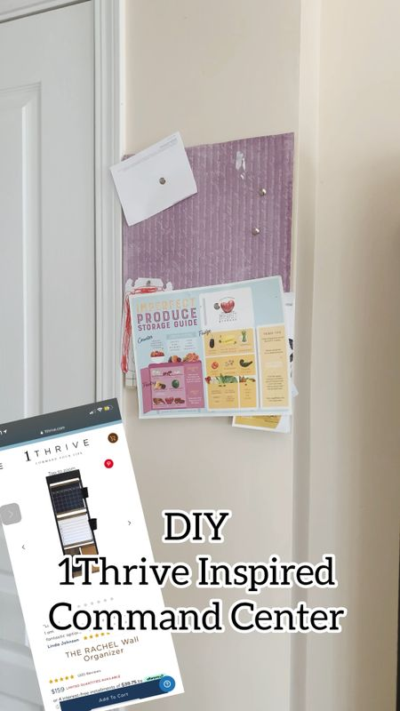 $20 DIY Thrive 1 inspired family command center.  It came out so cute and most of it from dollar tree and Target   #familycommandcenter #howto #diy #turtorial #organize #diyinspo I do not own rights or this music.    #LTKstyletip #LTKfamily #LTKhome