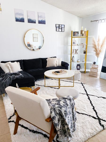 #amazonhome #amazonfinds  Just added a few new items ✨ White shag rug with black diamonds and a cute oversized modern accent chair. Chair is Amazon, my rug I cannot link the retailer, so I linked very similar ones.   Price ranges; $48-$380  #LTKfamily #LTKhome #LTKsalealert