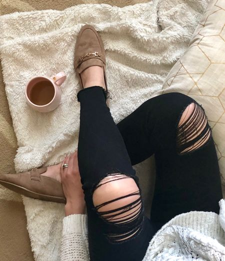 Rips, mules, and coffee 😍 it's gonna be a good day! Happy Sunday! http://liketk.it/2v1r0 @liketoknow.it #liketkit