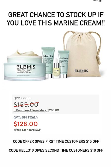Super sized Marine cream from Elemis on sale today!! http://liketk.it/3hSEh #liketkit @liketoknow.it #LTKunder100 #LTKbeauty