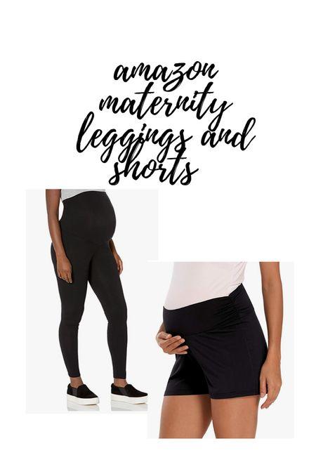 amazon maternity leggings and shorts  #LTKbaby #LTKbump #LTKunder50